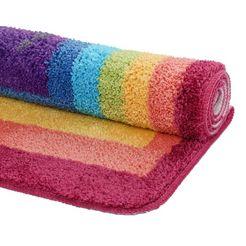 luettenhuett vloerkleed voor de kinderkamer regenboog multicolor