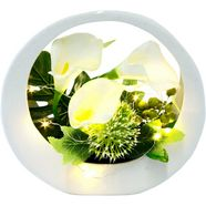 i.ge.a. kunstbloem calla in een keramieken pot, met ledverlichting (1 stuk) wit