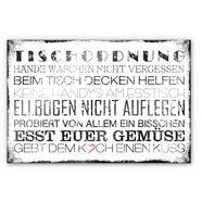 """wall-art kookplaatdeksel """"spritzschutz kueche tischordnung"""", glas wit"""