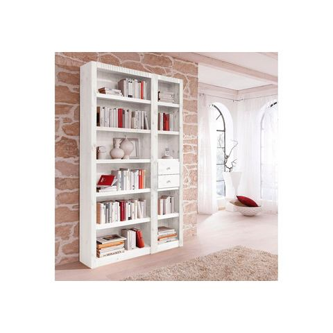 Boekenwand, met ladeset, 3-delig
