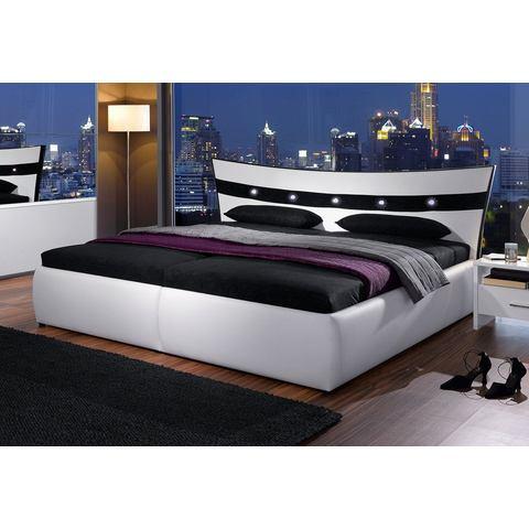 Bed micro velours in 4 verschillende uitvoeringen 7 zones koudschuimmatras wit Hapo 305607