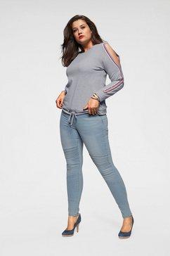arizona sweatshirt met cold shoulder en rijgkoord met cold shoulders grijs