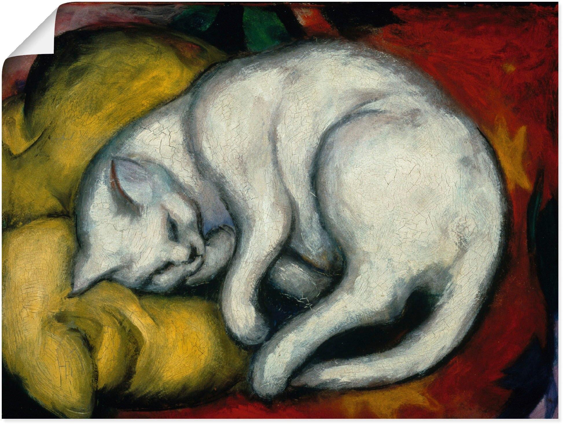 Artland artprint De witte kat. 1912 in vele afmetingen & productsoorten - artprint van aluminium / artprint voor buiten, artprint op linnen, poster, muursticker / wandfolie ook geschikt voor de badkamer (1 stuk) - verschillende betaalmethodes