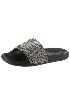 skechers slippers pop ups rocker glam met een brede band zwart