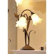 tafellamp florentijnse serie met 2 fittingen bruin