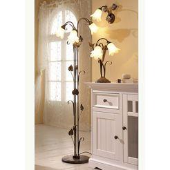 staande lamp »florentijns«, bruin