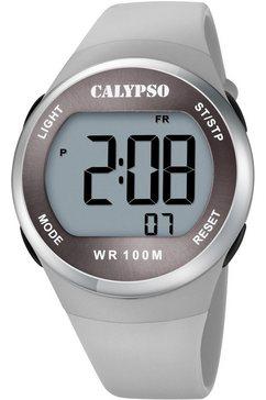 calypso watches chronograaf color splash, k5786-1 grijs