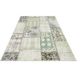 vloerkleed, »symi«, bougari, rechthoekig, hoogte 8 mm, machinaal geweven groen
