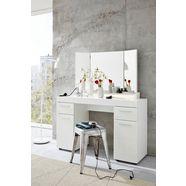 trendteam make-uptafel amanda inclusief spiegel en verlichting (set) wit