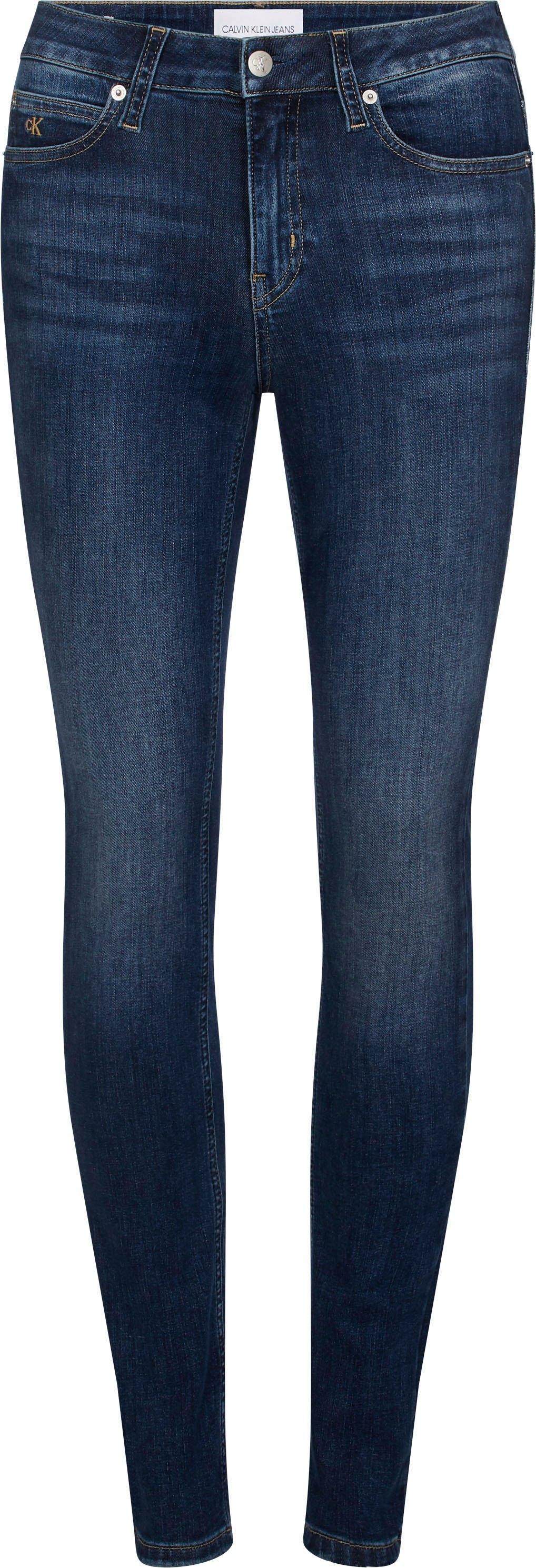 Calvin Klein skinny fit jeans CKJ 011 MID RISE SKINNY met fadeout effect,jeans merklabel & ck borduursel in de webshop van OTTO kopen
