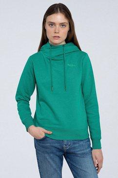 pepe jeans sweater alicia leuke kraag die gestrikt kan worden groen