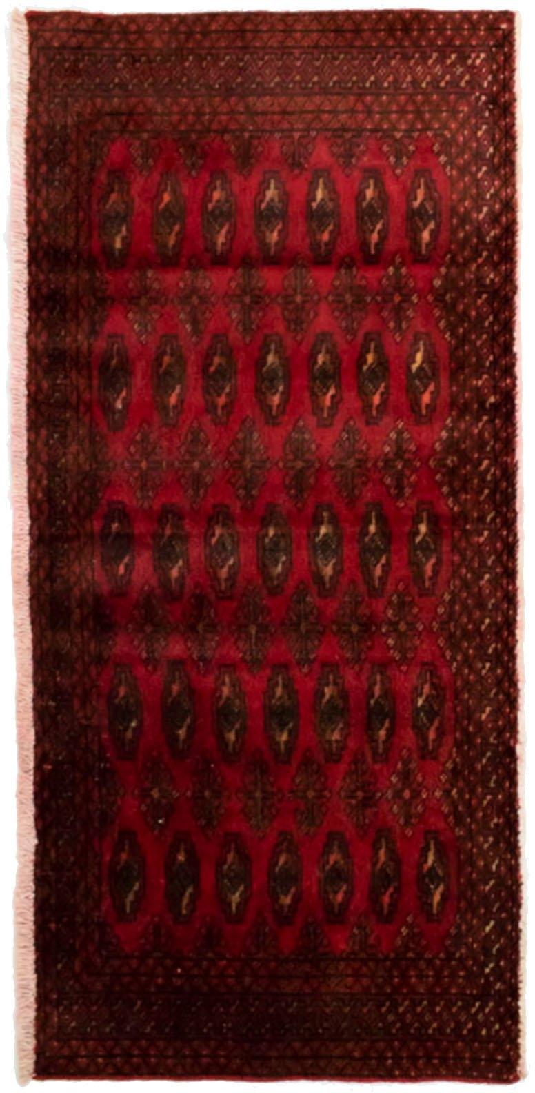 morgenland wollen kleed Turkaman Teppich handgeknüpft rot - verschillende betaalmethodes