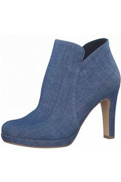 tamaris highheel-laarsjes in coole jeans-look blauw