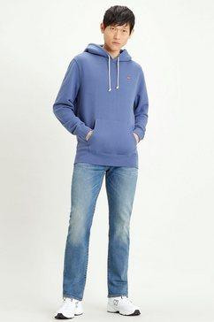 levi's hoodie met klein batwing-logo blauw