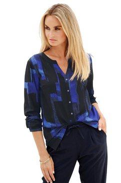 creation l gedessineerde blouse schwarz