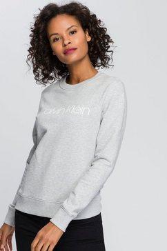 calvin klein sweatshirt ls core logo hwk met calvin klein-logo-opschrift grijs