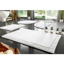 badmat »kapra«, home affaire, hoogte 20 mm, geschikt voor vloerverwarming slijtvast, keerbaar wit