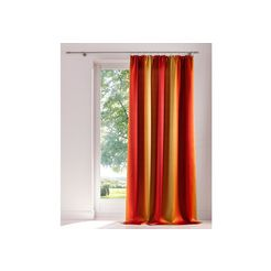 gordijn, my home, »bondo«, met rimpelband (per stuk) oranje