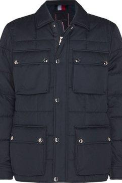 tommy hilfiger gewatteerde jas »quilted airfield« blauw