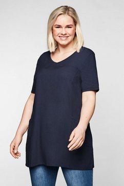 sheego lang shirt blauw