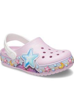 crocs clogs ballerina's pink, fl star band clogs k met kleurrijke stermotieven gegarneerd roze