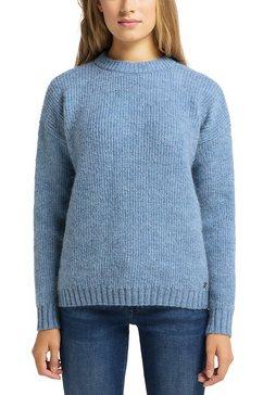 mustang sweatshirt »carla c chunky soft« blauw