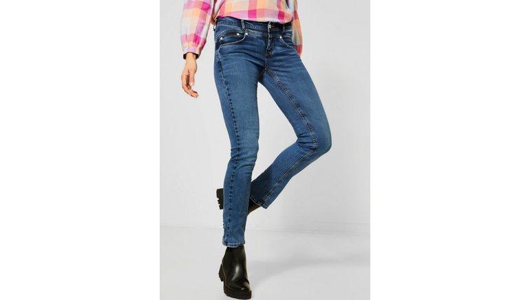 STREET ONE bootcut jeans Iowa met flatteus nadenpatroon