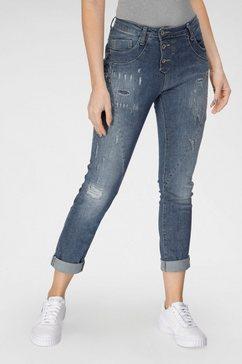 please jeans boyfriendjeans p 78a original boyfriend cut met destroyed effecten blauw