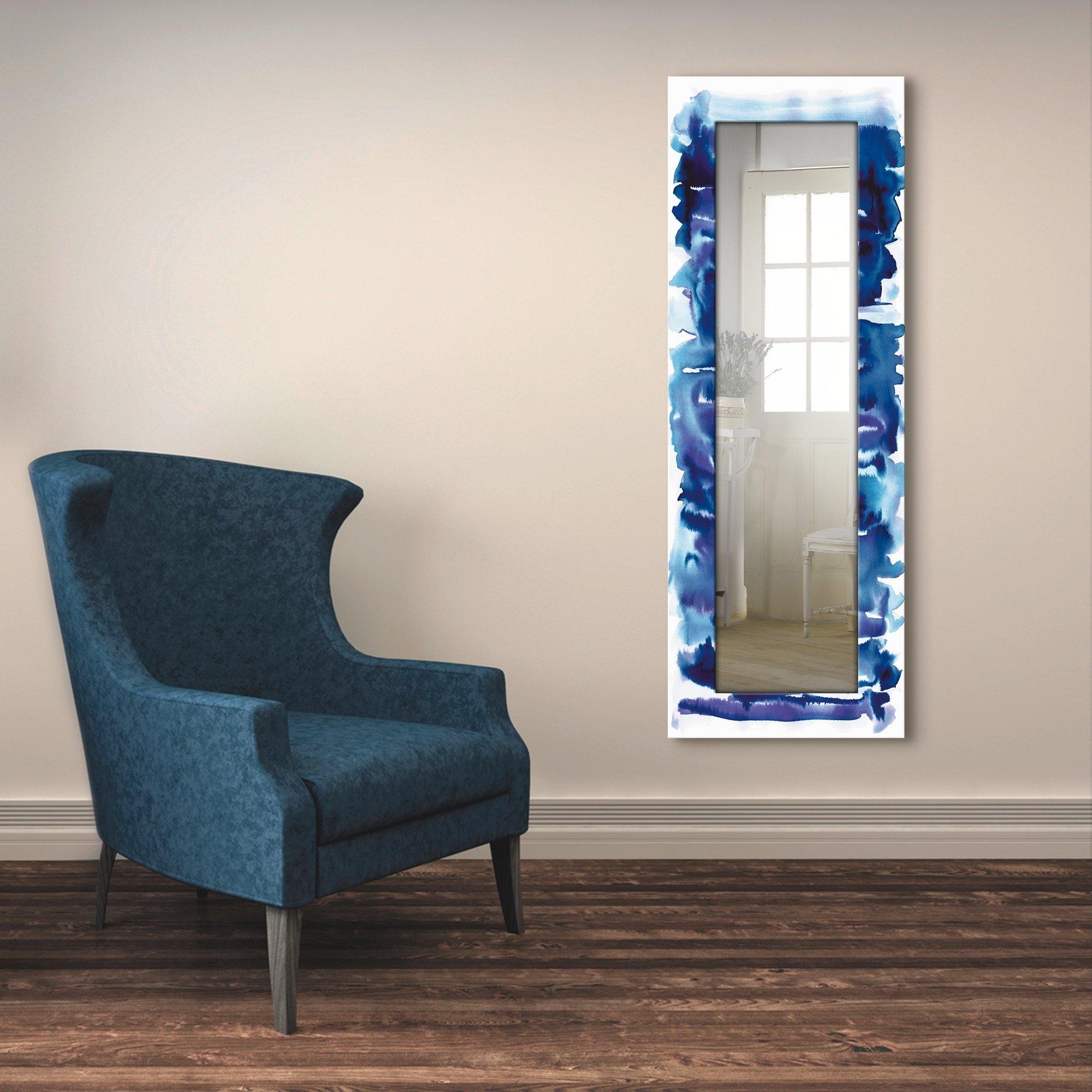 Artland wandspiegel Aquarel in blauw ingelijste spiegel voor het hele lichaam met motiefrand, geschikt voor kleine, smalle hal, halspiegel, mirror spiegel omrand om op te hangen nu online kopen bij OTTO