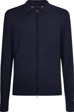tommy hilfiger vest tailored tricot blauw