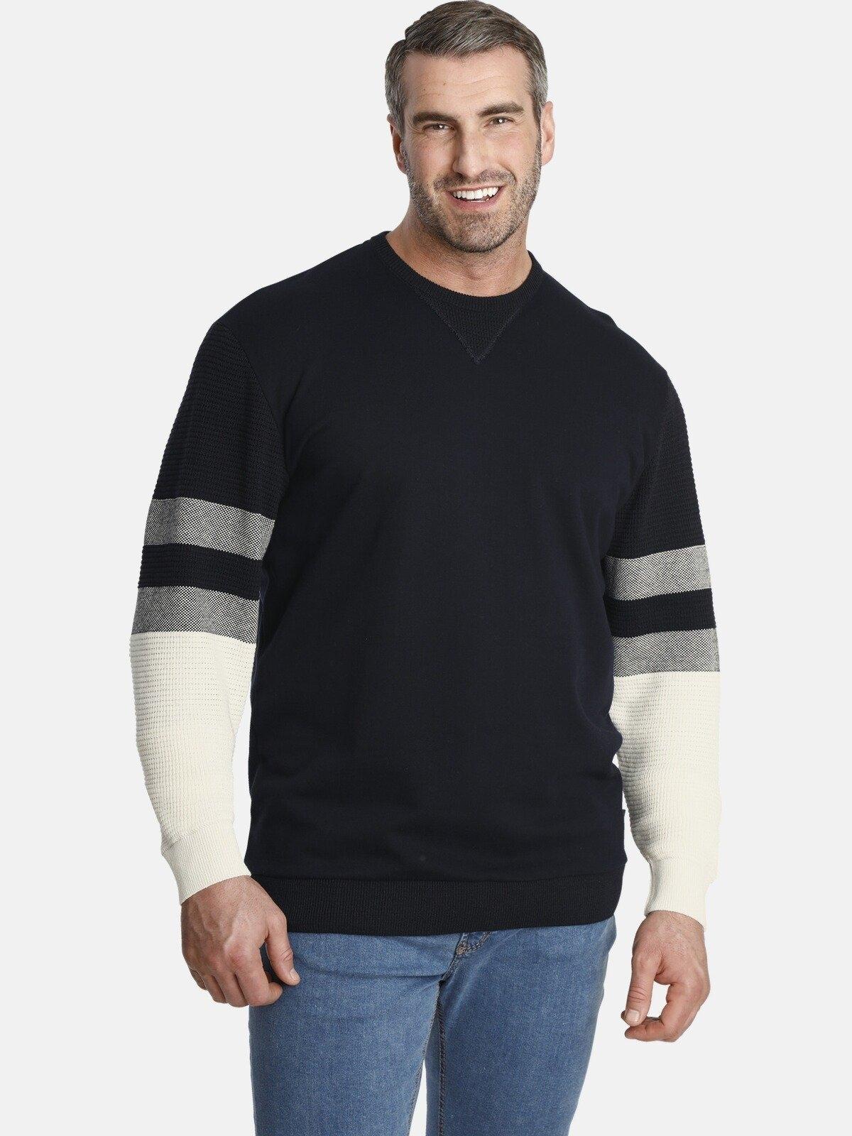 Charles Colby sweatshirt EARL JIM Mix van sweatstof en breisel online kopen op otto.nl