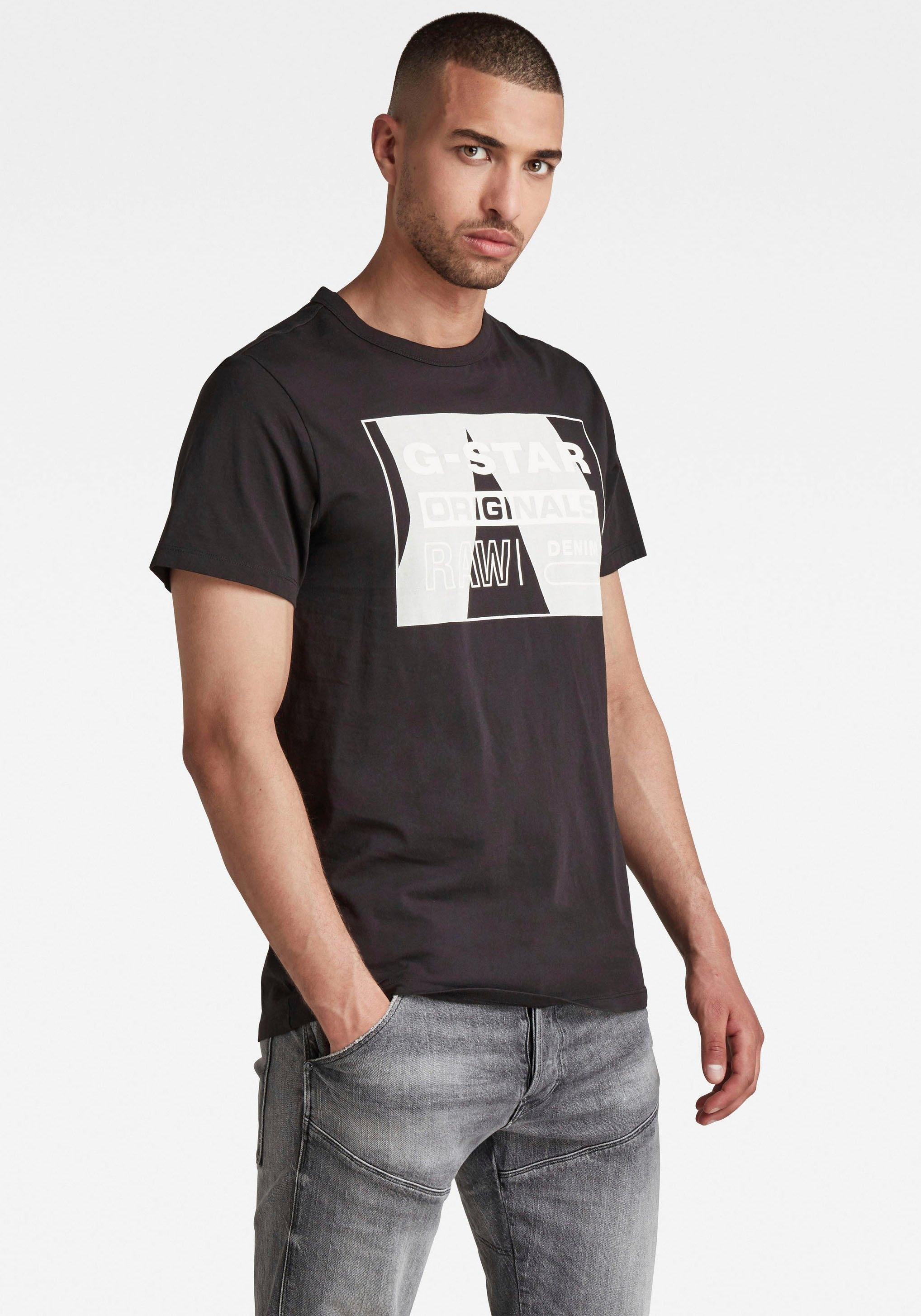 G-Star RAW Shirt met ronde hals LLayer Originals Logo GR R T veilig op otto.nl kopen