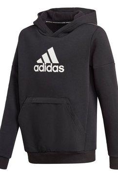 adidas performance hoodie »badge of sport fleece« zwart
