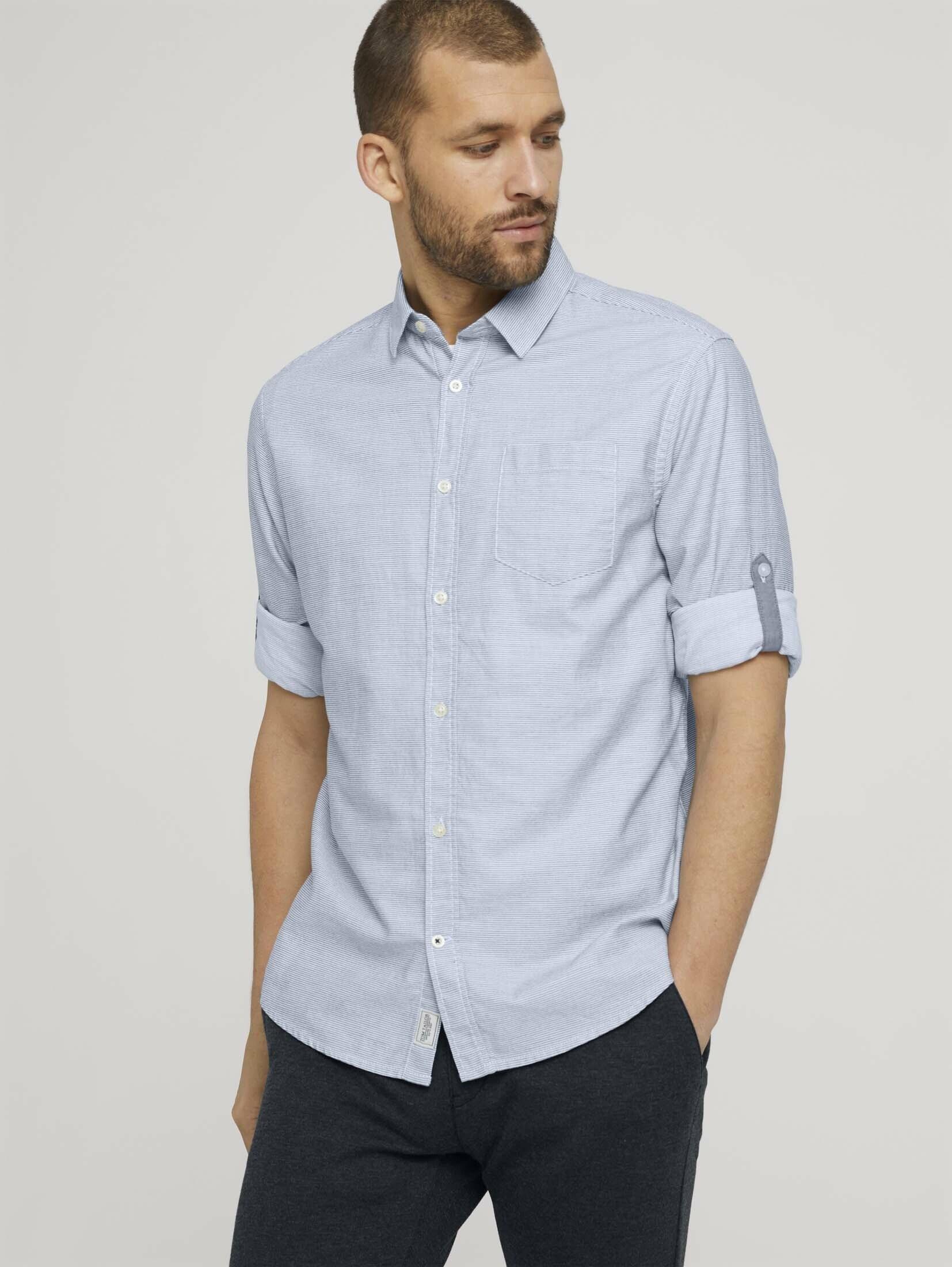 Op zoek naar een Tom Tailor overhemd met lange mouwen Gestreept overhemd? Koop online bij OTTO