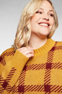sheego trui met staande kraag geel
