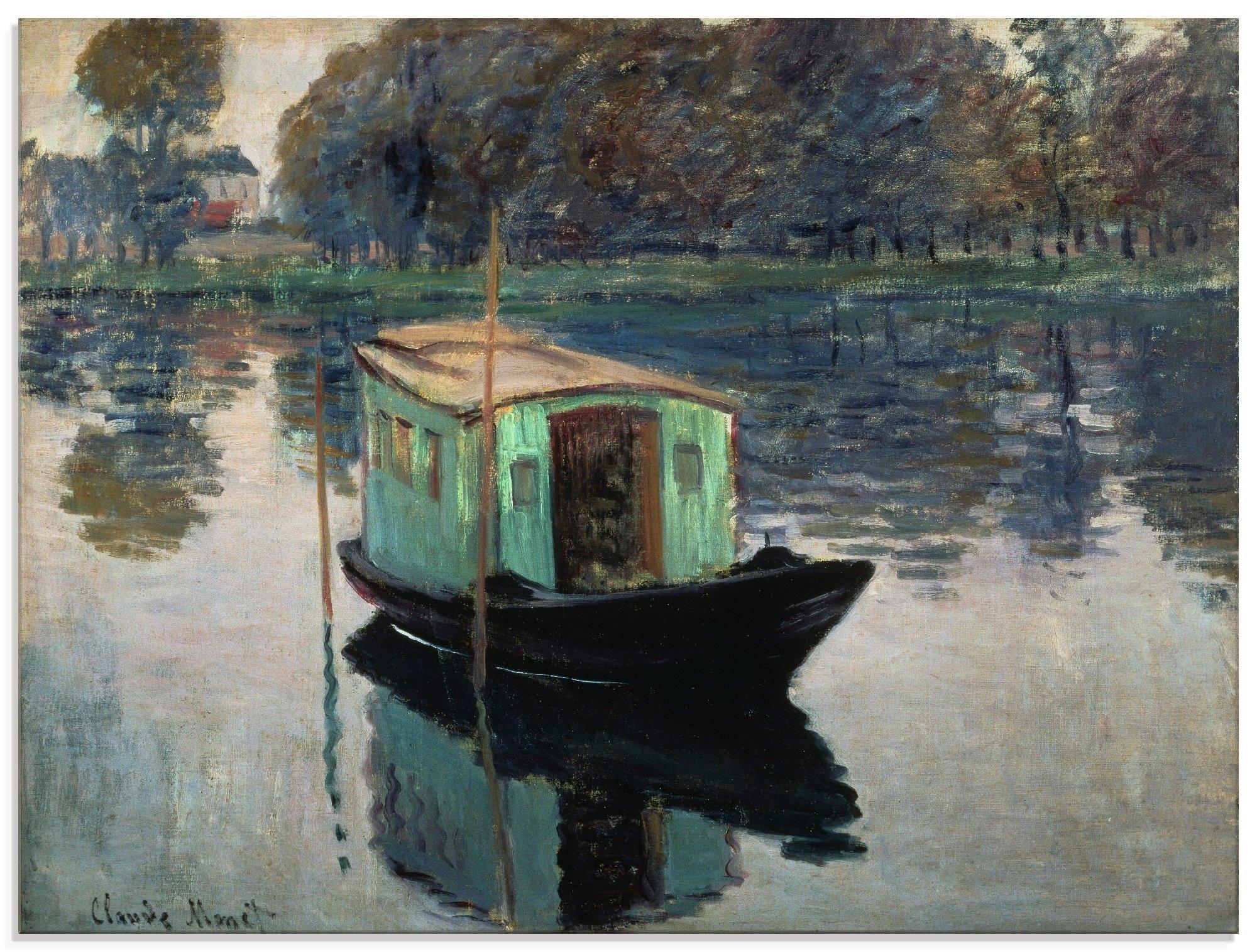 Artland print op glas De atelierboot. 1874 (1 stuk) online kopen op otto.nl
