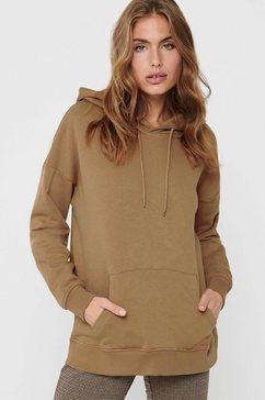 only sweatshirt onlfeel met een capuchon bruin
