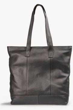 treats shopper luna common van leer met messingkleurige details zwart