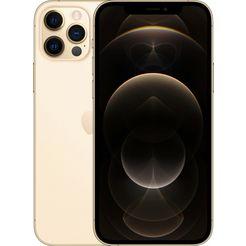 apple smartphone iphone 12 pro, 128 gb, zonder stroom-adapter en hoofdtelefoon, compatibel met airpods, airpods pro, earpods hoofdtelefoon goud