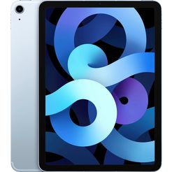 "apple tablet ipad air (2020) wi-fi + cellular 64gb, 10,9 "", ipados, inclusief oplader blauw"