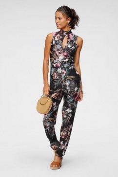 melrose jumpsuit met elegante cut-out en modieuze bloemenprint zwart