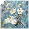 artland artprint prachtige magnolia ii in vele afmetingen  productsoorten -artprint op linnen, poster, muursticker - wandfolie ook geschikt voor de badkamer (1 stuk) blauw