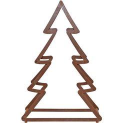 deco-boom kerstboom van metaal, met roestig oppervlak, hoogte ca. 95 cm bruin