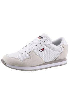 tommy jeans sneakers met sleehak »tommy jeans mono sneaker« wit