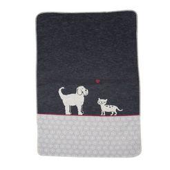 """david fussenegger deken voor dieren hond  kat, heerlijk zachte dierendeken keerbaar """"hond kat"""" - made in austria grijs"""