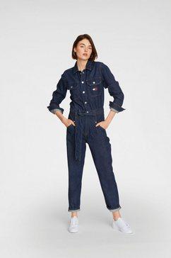tommy jeans jumpsuit »mom jumpsuit udbr« blauw