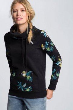 kangaroos sweater met grote col zwart