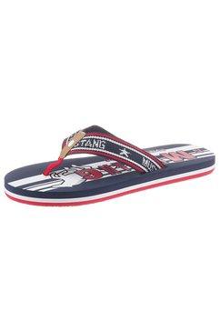 mustang shoes teenslippers blauw