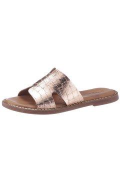tamaris slippers toffy met fijne stempeldruk roze
