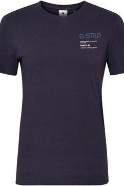 g-star raw shirt met v-hals »,g-star chest graphic slim v t« blauw